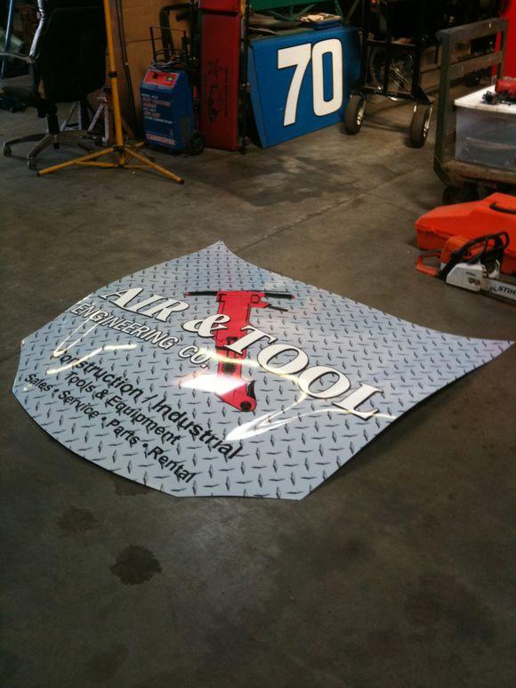 Racing Car Hood Wrap