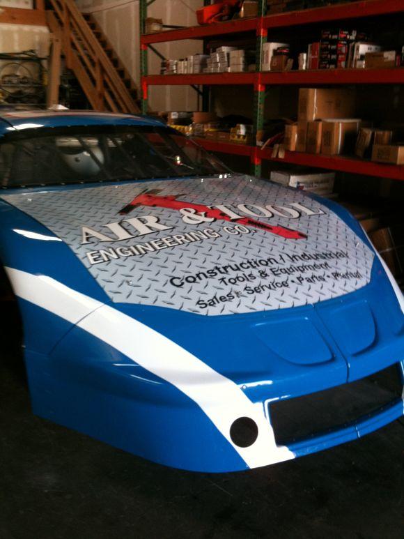 March 26th, 2010  Racing Car Hood Wrap