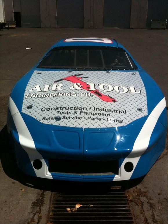 April 29th, 2010  Racing Car Hood Wrap