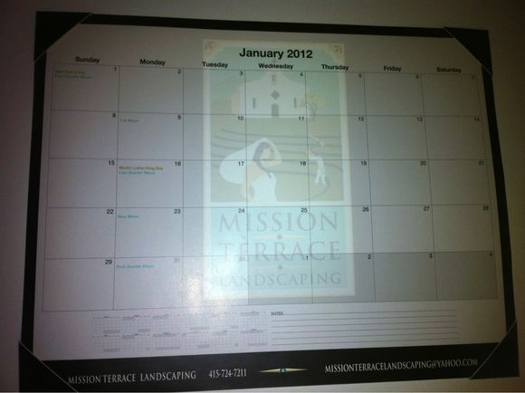 January 11th, 2012  Flat Desk Calendars