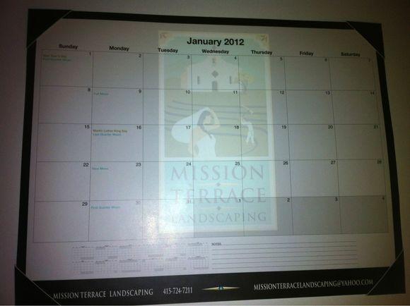 January 11th, 2012  Flat Desk Calendars