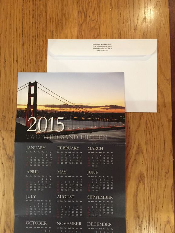 December 19th, 2014  Annual Calendar Cards